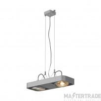 SLV 159214 AIXLIGHT R2 DUO LED GU10, QPAR111, pendant, semicircular , silver-grey