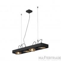 SLV 159220 AIXLIGHT R2 LONG LED GU10, QPAR111, pendant, semicircular , black