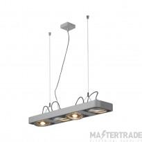 SLV 159224 AIXLIGHT R2 LONG LED GU10, QPAR111, pendant, semicircular , silver-grey