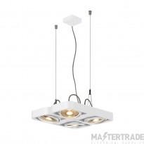 SLV 159231 AIXLIGHT R2 SQUARE LED GU10, QPAR111, pendant, semicircular , white