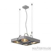 SLV 159234 AIXLIGHT R2 SQUARE LED GU10, QPAR111, pendant, semicircular , silver-grey