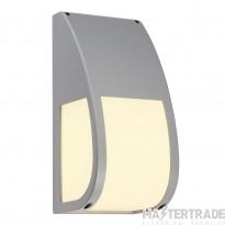 SLV 227174 KERAS ELT wall light, silver-grey, E27 Energy Saver, max. 25W, IP54