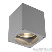 SLV 229554 BIG THEO CEILING OUT ceiling light, square, silver-grey, ES111, max. 75W