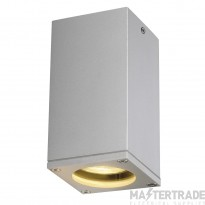 SLV 229584 THEO CEILING OUT ceiling light , square, silver-grey, GU10, max. 35W