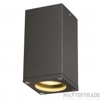 SLV 229585 THEO CEILING OUT ceiling light , square, anthracite, GU10, max. 35W