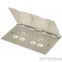 Click New Media Stainless Steel Floor Socket 2 Gang FS032SS