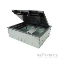Tass TSB2/80-RCD Floor Box 2C 266x212mm