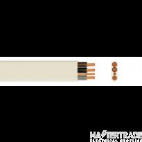 3 Core & Earth Low Smoke Zero Halogen Cable 2.5mmSQ 6243B White 100M