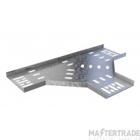 Trench Light Duty Cable Tray Flat Tees (75mm) Pre-Galvanised