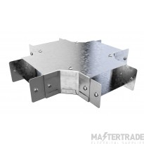 """Trench Cable Trunking Single Comp Fourway (3""""x3"""")"""