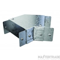 """Trench Cable Trunking Single Comp 45 Flat Bend (4""""x4"""")"""