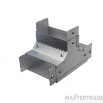 """Trench Cable Trunking Single Comp Internal  Lid Tee (4""""x4"""")"""