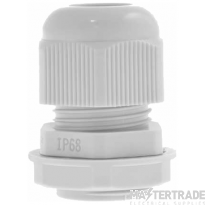 Unicrimp 20mm Nylon Cable Gland - White = Pack of 10