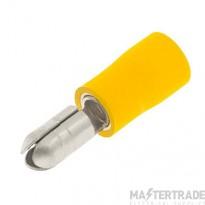 Unicrimp 5mm Male Auto Bullet Terminal - Yellow