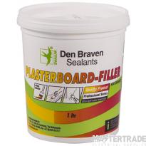 Unicrimp Unicrimp - ZWALUW Instant Plaster Filler - White 1 litre Tub