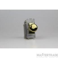 VARI GH0V Push Switch 2Way 1 Grid Brass