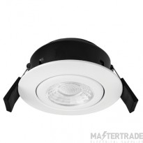 Greenbrook VCPT3000W Vela Compact PRO 6W Fire Rated Downlight - Tilt - White 3000k
