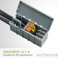 Wago 60413514 Wagobox Grey Multipurpose Junction Enclosure Designed For Use With 221-4XX