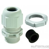 Wiska 10100635 Nylon Cable Gland & Locknut Grey Pk=10
