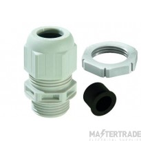 Wiska 10100637 Nylon Cable Gland & Locknut White Pk=10