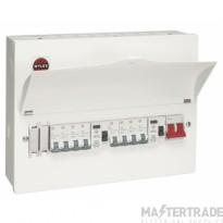 Wylex WNM1769 10 Way Dual RCD Consumer Unit c/w 8 MCBs & Blanks