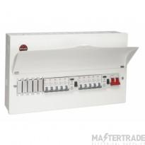 Wylex WNM1770 15 Way Dual RCD Consumer Unit c/w 10 MCBs & Blanks