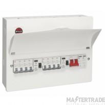 Wylex WNM1772 8 Way Dual RCD Consumer Unit + Type 2 SPD c/w 8 MCBs & Blanks