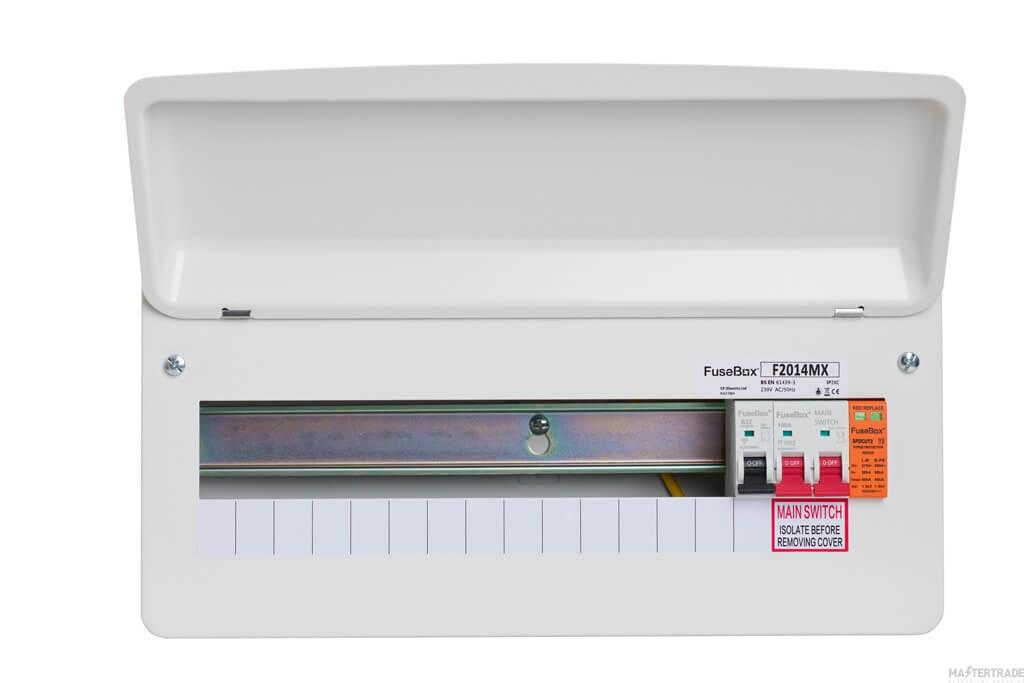 FuseBox F2014MX 100A Main Switch 14 Way T2 Spd Inc. Tail Clamp