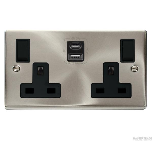 Click VPSC786BK Skt 2G Swd & USB 13A