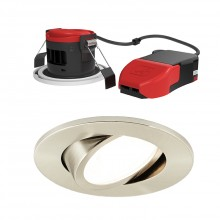 Ansell Lighting APRILEDP/G/SC Prism Pro Gimbal Fire Rated Downlight CCT Satin Chrome
