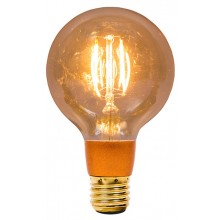BELL 01474 4W LED Vintage Globe Dimmable - ES, Amber, 2000K