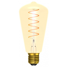 BELL 60017 4W LED Vintage Soft Coil Vertical Filament Squirrel Cage - ES, Amber, 2200K