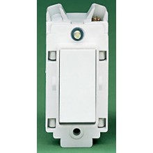 Crabtree Rockergrid White 10A Grid Switch Retractive 4489
