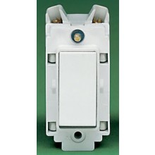 Crabtree Rockergrid White 20A Grid Switch 2 Way & Off 4552