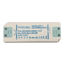 Ecopac LED Driver ECP50-12VF-1 50W  Contant Voltage Fixed Outout 12volt DC