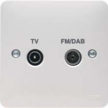 Hager WMDX Socket Coax TV/FM/DAB Single
