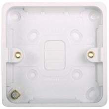 Hager WMPB1/20 Surface Box Sgl 20mm
