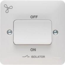 Hager Sollysta TP Isolator c/w Marked Fan White Urea WMPS3PIF