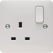 Hager WMSS81 Socket 1G DP Switched 13A