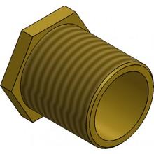 MetPro MBBL2 25Mm Male Bush Long - Brass