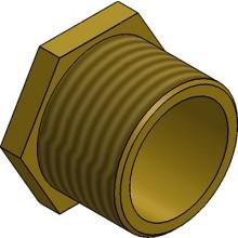 MetPro MBBS1 20Mm Male Bush Short - Brass