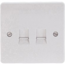 Click Mode Double 1 Gang Cat-5E Socket Outlet CMA132