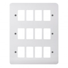 Click Mode White 12 Gang Grid Pro Front Plate CMA20512