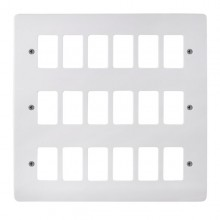 Click Mode White 18 Gang Grid Pro Front Plate CMA20518