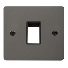 Click Define Black Nickel Single Plate 1 Gang Aperture FPBN401BK