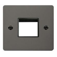 Click Define Black Nickel Single Plate 2 Gang Aperture FPBN402BK