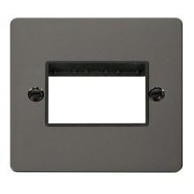 Click Define Black Nickel Single Plate 3 Gang Aperture FPBN403BK