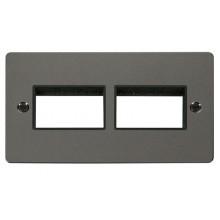 Click Define Black Nickel Double Plate 6 Gang Aperture FPBN406BK