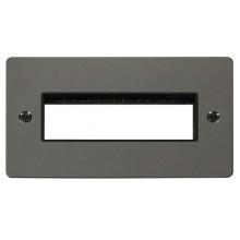Click Define Black Nickel Double Plate 6 Gang Aperture FPBN426BK