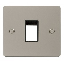Click Define Pearl Nickel Single Plate 1 Gang Aperture FPPN401BK